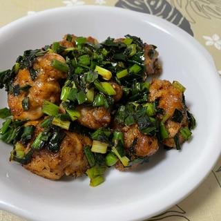 鶏肉と葱のXO醬炒め