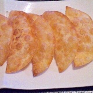 余った餃子の皮で☆りんごのコンフィチュールのパイ