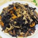 ひじき蓮根人参椎茸の梅煮