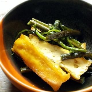 あげ豆腐とぜんまいの甘辛煮
