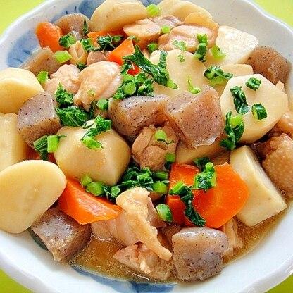 里芋と鶏肉こんにゃくの味噌煮