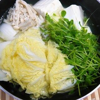 白菜と豆腐のあっさり鍋