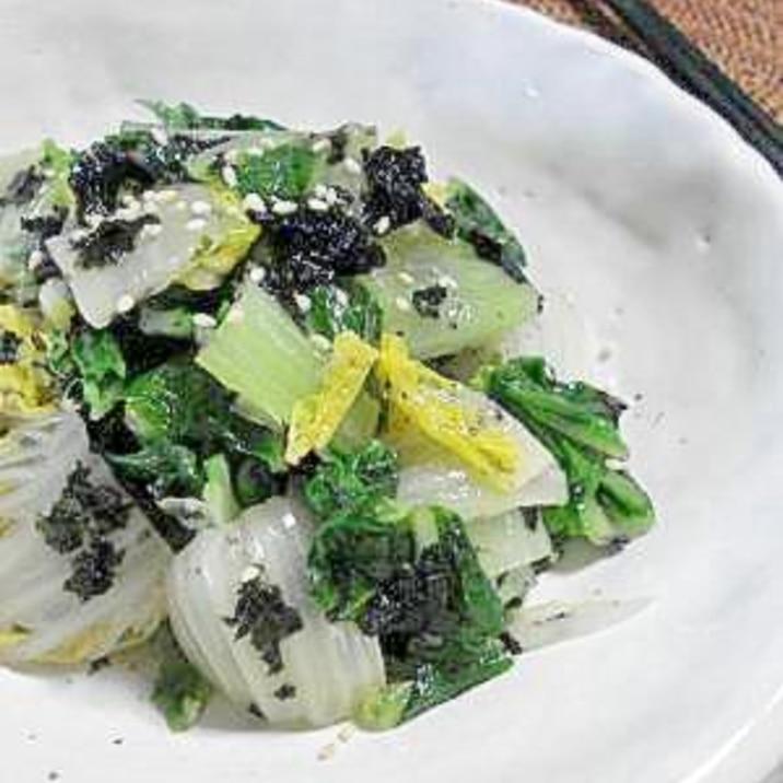 白菜の海苔和え
