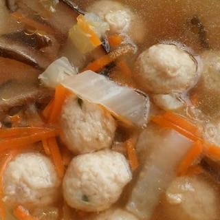 しょうがたっぷりの肉団子スープ