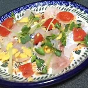 簡単おつまみ♪鯛のカルパッチョ☆