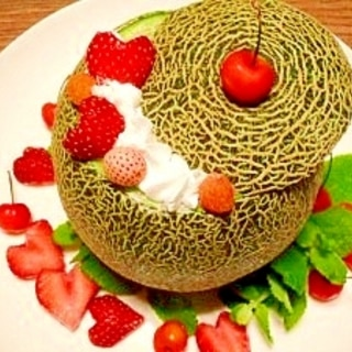 マスカルポーネチーズ入り☆メロンケーキ