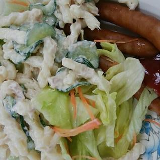 マカロニサラダの朝食プレート