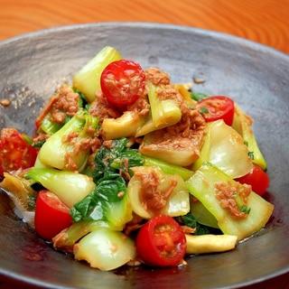 野菜たっぷり!青梗菜とツナの冷菜