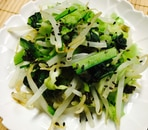 もやしと小松菜とキャベツの海苔ポン酢和え