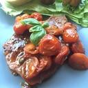 プチトマト大量消費!豚肉のプチトマトソース