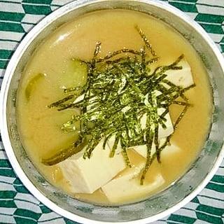 豆腐ときゅうりの冷汁