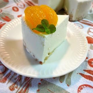 ひんやり冷たいヨーグルトムースケーキ