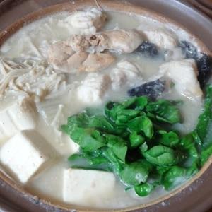 絶品スープ♪粕汁風あんこう鍋