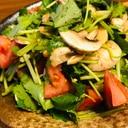混ぜるだけ!三つ葉とトマトマッシュルームのサラダ
