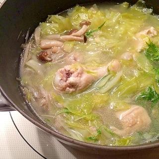 鶏肉やわらか*うちの水炊き鍋