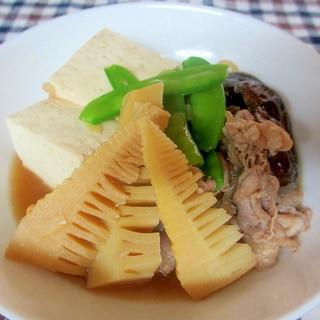 タケノコと豚肉の肉豆腐