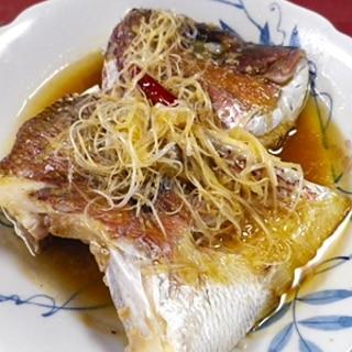 真鯛の清蒸鮮魚
