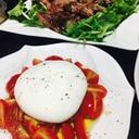 ブッラータのトマトサラダ