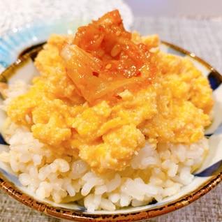 簡単でダブル美味★★ふわふわ明太子玉子丼