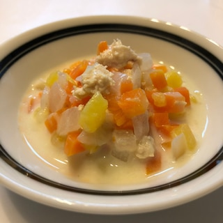 離乳食後期*さつまいもとささみのクリーム煮