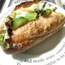 バゲットでカマンベールサラダのホットサンド