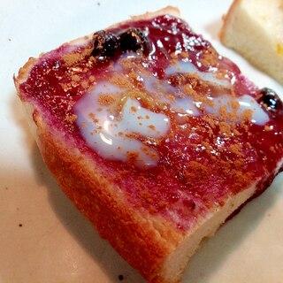 ブルーベリージャムとマーマレードのミニトースト