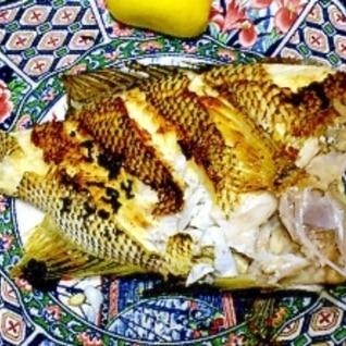 白身魚のバター焼き