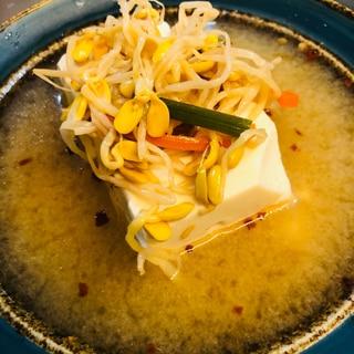 ビビンバの素で!豆腐チゲスープ