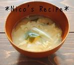 キャベツと大根の味噌汁