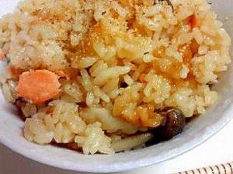 鮭とシメジの炊き込みご飯