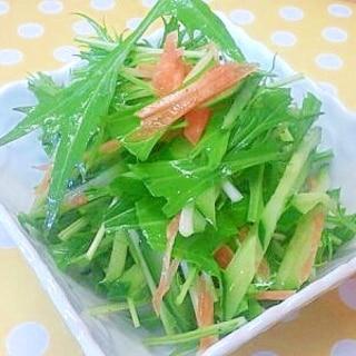 水菜&きゅうりのサラダ