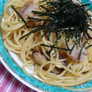 椎茸と豚肉の和風パスタ
