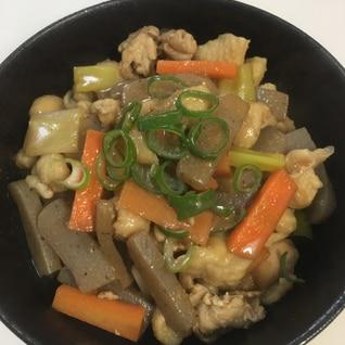 もつ煮風⭐︎鶏皮とこんにゃくの味噌煮
