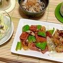 母の日は加工肉で簡単お手伝い~ポークソピーマソ