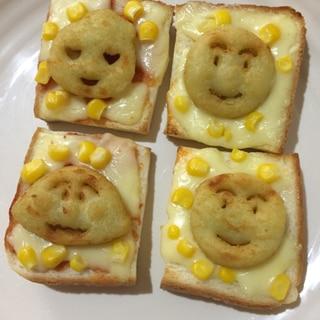 子供が喜ぶ幼児食♪アンパンマンポテトトースト♫