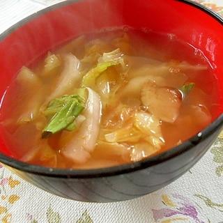 チンゲン菜と白菜の雑煮