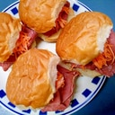 ビーフハムとニンジンサラダのサンドイッチ