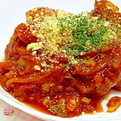 簡単チキンのトマト煮こみ