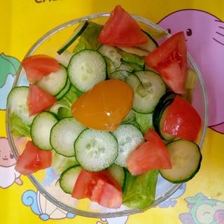 冷蔵庫にあるお野菜で一口サラダ