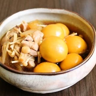 【鶏モツ】プリプリ食感。鶏キンカン&鶏ももの煮込み