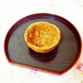 クッキーで♪焼かずに作るコーヒー風味タルト台