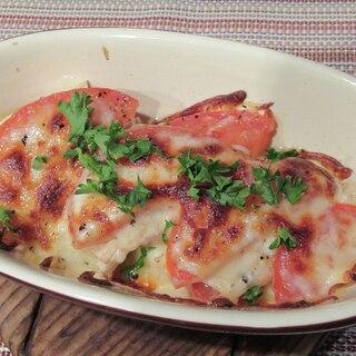 エリンギとトマトのチーズ焼き