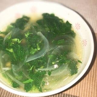 夏の味♡モロヘイヤのスープ
