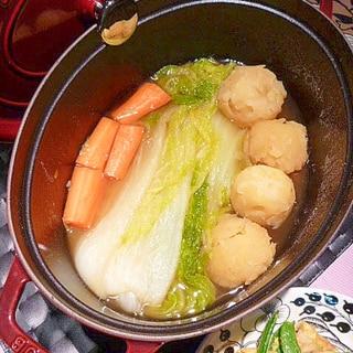 ストウブ鍋で☆丸ごと白菜&じゃがいも煮込み