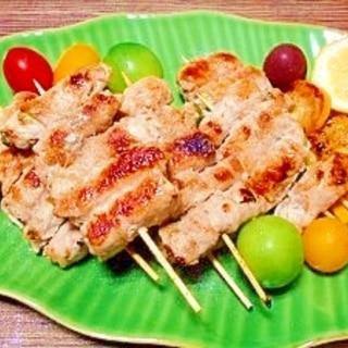 豚肉巻き☆ズッキーニとアスパラ串