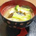 ブロッコリーと豆腐の味噌汁