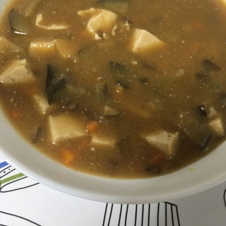 ジャージャー麺の素で☆麻婆豆腐なす(^ ^)