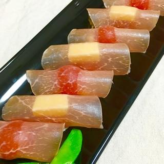 可愛いッ♪プチトマトとチーズの生ハム巻き♡