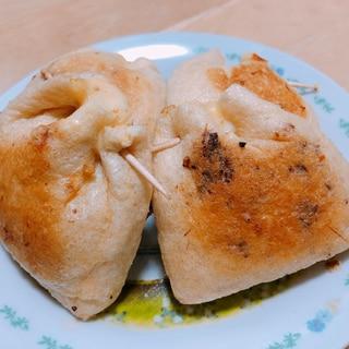 油揚げの納豆チーズ焼き