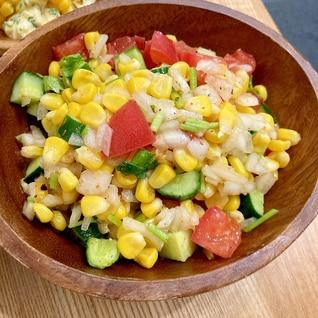ピリ辛☆夏野菜のサルサ風サラダ